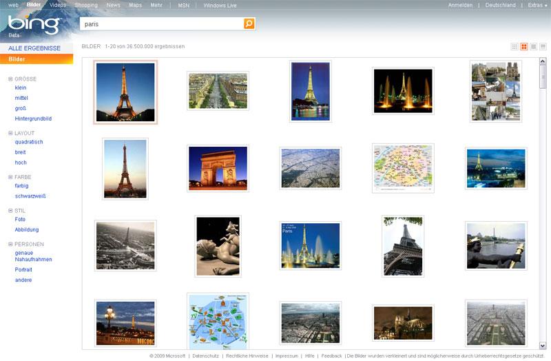 Bing Bildsuche