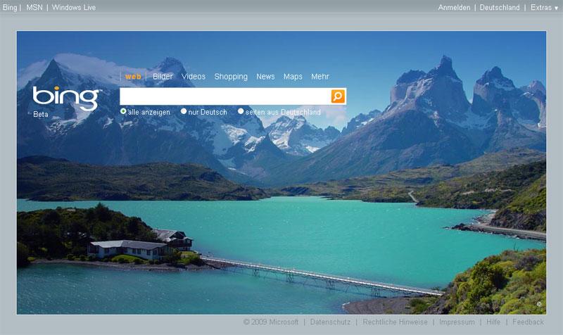 Bing Startseite