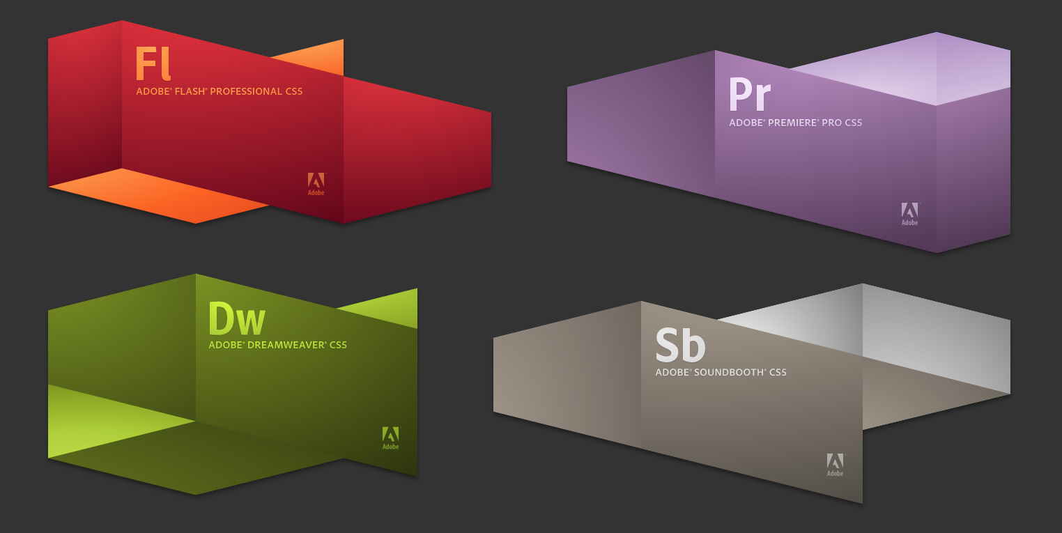 Adobe CS5 Splash Screens