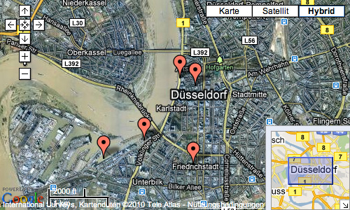 Google Maps Hybrid Düsseldorf