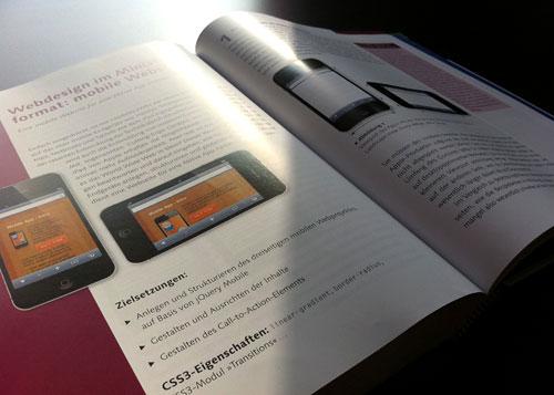 """Modernes Webdesign mit CSS - Seitenansicht """"mobile Web"""""""