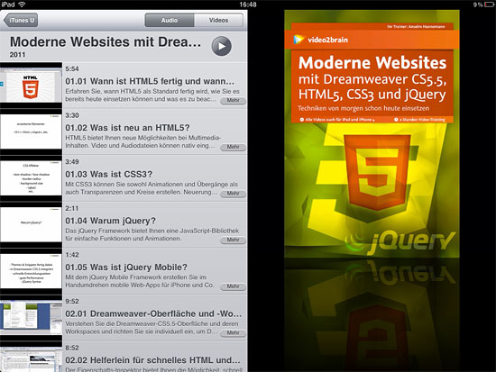 """Moderne Website ..."" in der iPad-Edition"