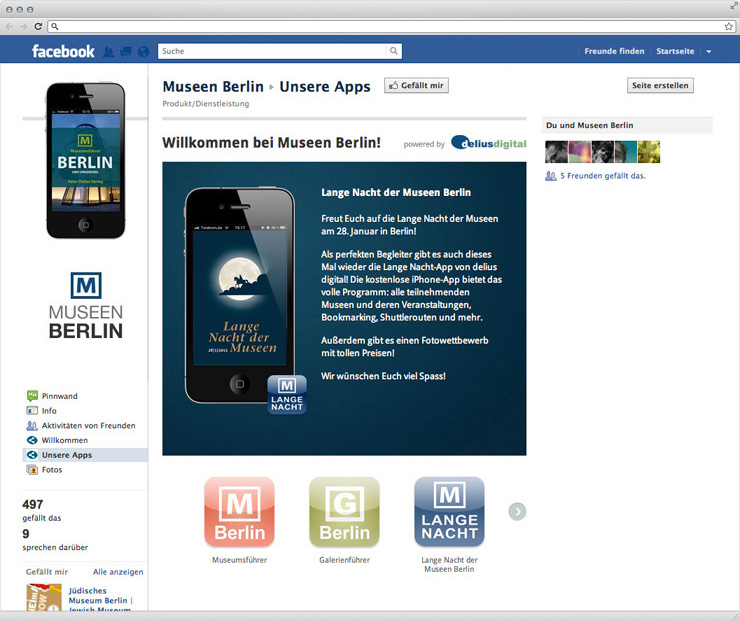 Individueller Facebook-Tab zur Prsentation von iPhone-Apps. 