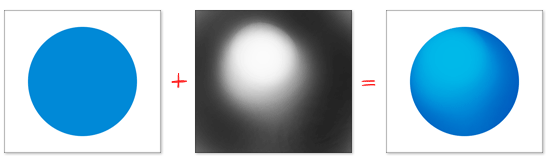 """Beleuchtung mit Hilfe einer 50% Grauebene im Modus """"Weiches Licht"""""""