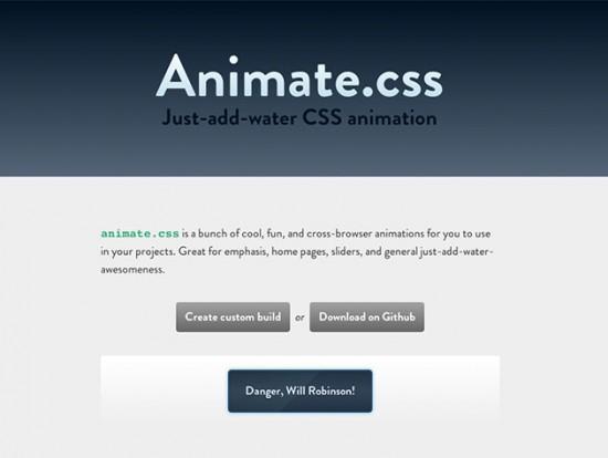 Website von Animate.css