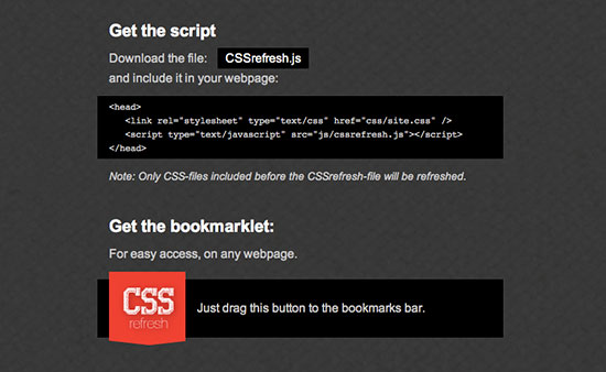 Screenshot der Website von CSS-Refresh