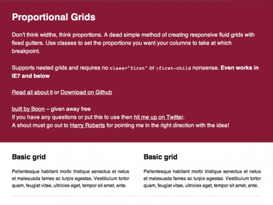 Screenshot von Proportional Grids