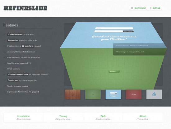 Website von RefineSlide