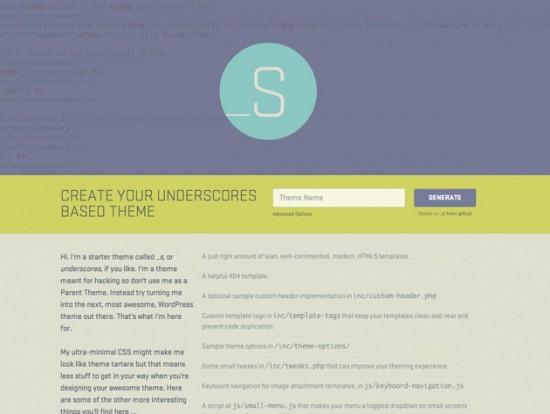 Website von Underscores