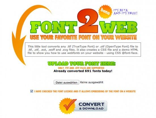 Website von Font2Web
