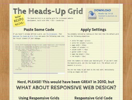 Screenshot von The Heads-Up Grid
