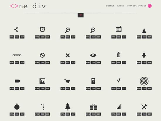CSS-Icons mit nur einem HTML-Element