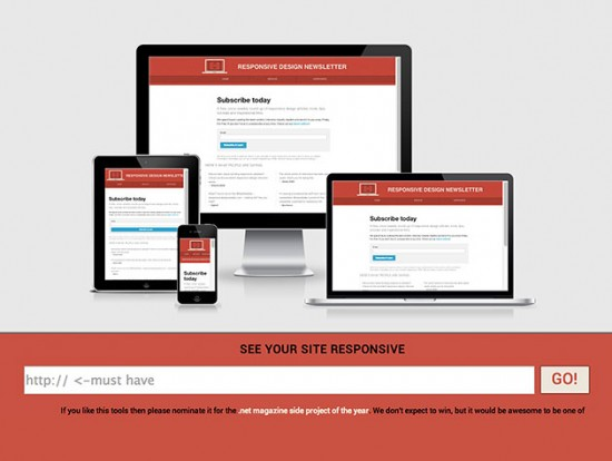 Screenshot-Tool für Responsive Websites – Am I Responsive?
