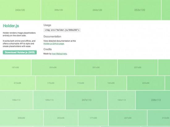 Mit Holder.js lassen sich Platzhalter-Grafiken für Websites generieren