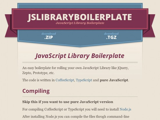 Eine Framework für JavaScript-Frameworks – jslibraryboilerplate