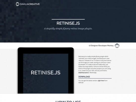 "Retina-Images mit dem jQuery-Plugin ""Retinise.js"""