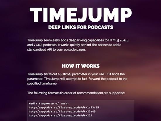 Sprungmarken für HTML5 Audio- und Videodateien