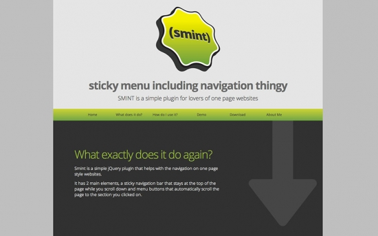 Sticky Navigation in One-Single-Pages