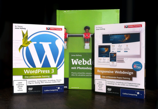Bücher und Video-Trainings zu WordPress, Responsive Webdesign, Photoshop und CSS3