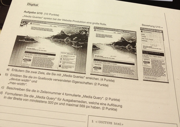 Der Blog von kulturbanause in der deutschlandweiten Abschlussprüfung für Mediengestalter der IHK