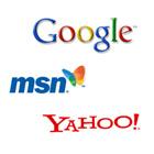Logos-der-Suchmaschinenanbieter-Google,-MSN-und-Yahoo
