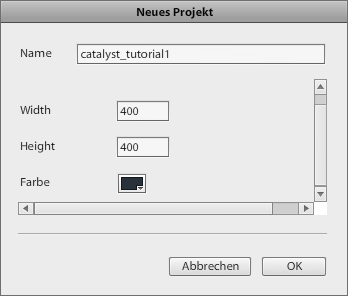 Adobe Flash Catalyst - Neues Projekt anlegen