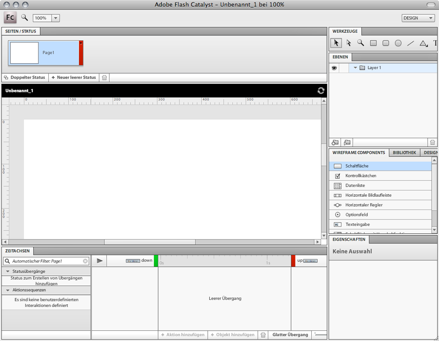 Adobe Flash Catalyst Interface