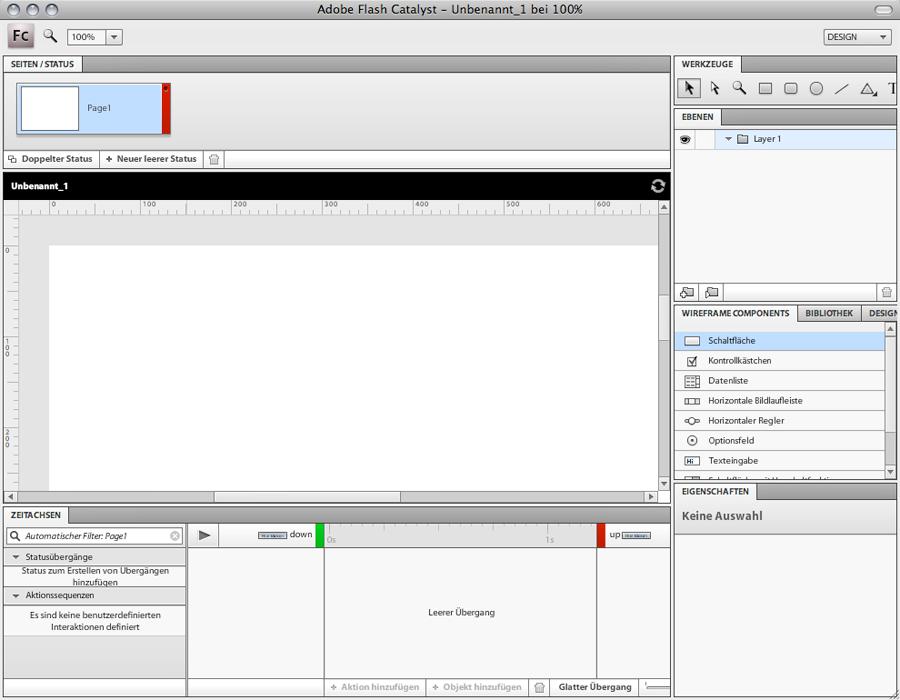 Adobe Flash Catalyst Interface