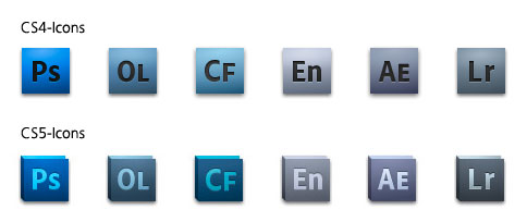Adobe CS4/CS5 Icon Entwicklung
