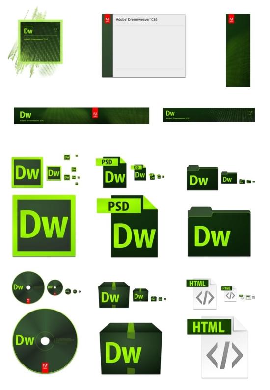 Design-Entwicklung der Creative Suite 6. Hier am Beispiel von Dreamweaver CS6.