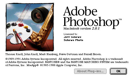 Photoshop 2.0 - Fast Eddie. Hidden Screen