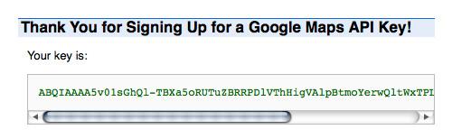 Google Maps API Code