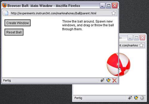 HTML Browser Ball
