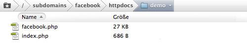 Facebook iFrame Tab Upload Directory