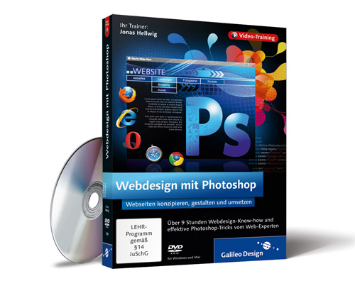 Jonas Hellwig - Webdesign mit Photoshop von Galileo Press