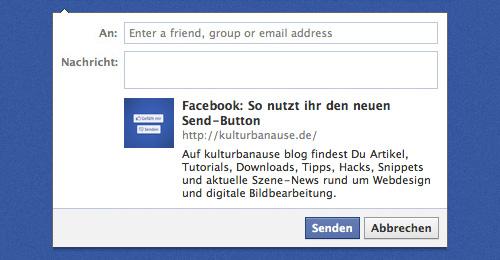 Facebook So Nutzt Ihr Den Neuen Send Button
