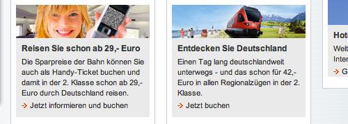 Stock Image auf der Website der Deutschen Bahn