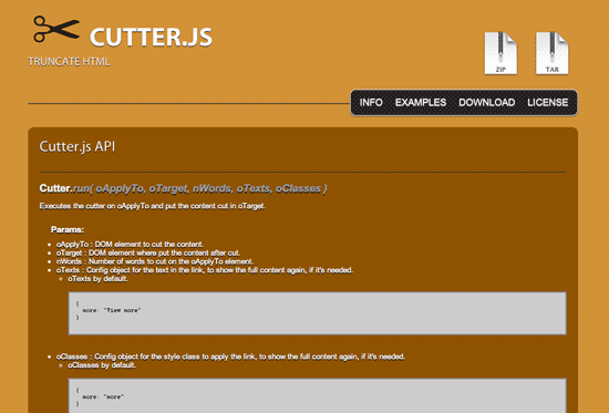 Cutter.js