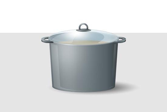 Kochtopf, Küchentopf-Icon
