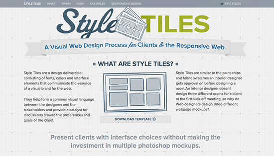 Style Tiles - Website