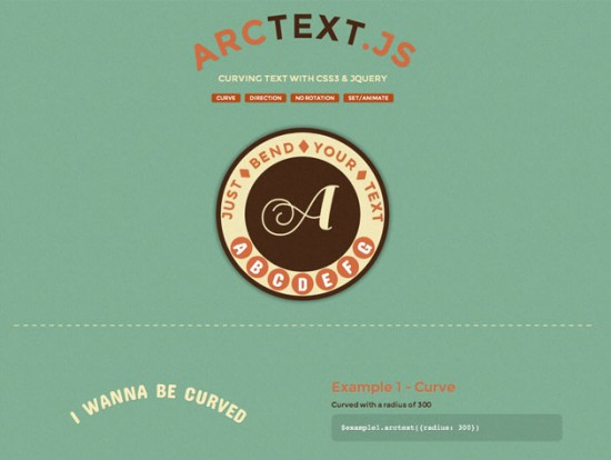 Website des ArcText-Scripts