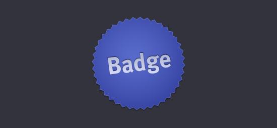 Exemplarischer aber typischer Badge im Webdesign