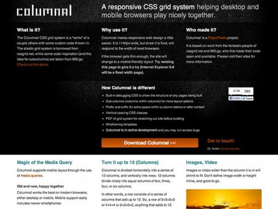 Website von Columnal