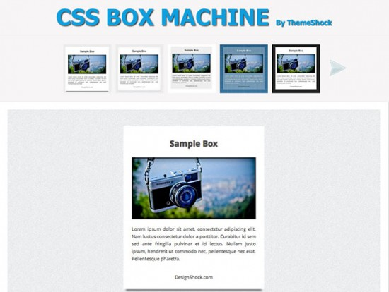 CSS Box Machine von Theme Shock