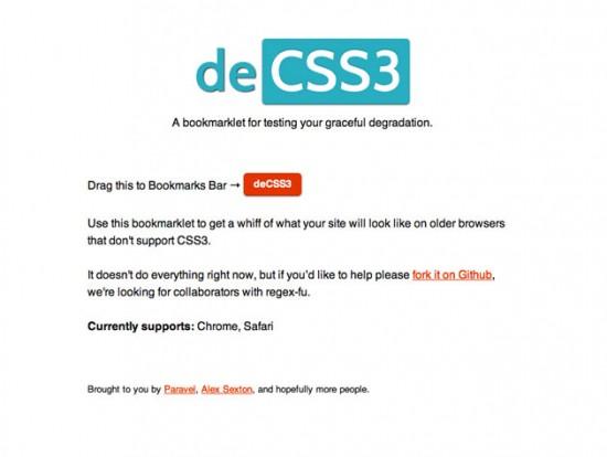 Website von deCSS3