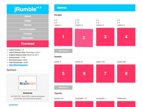 jRumble-Website