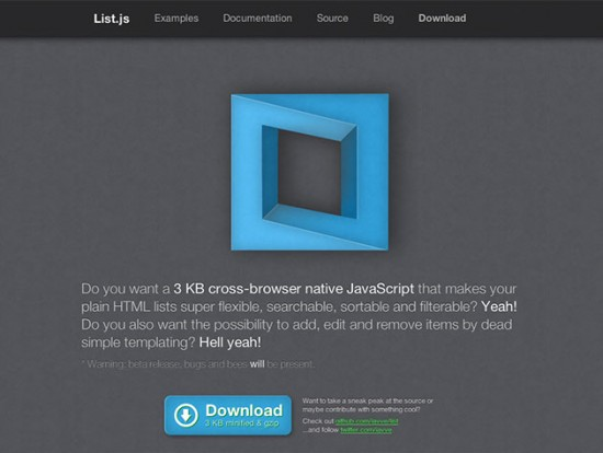 list.js-Website