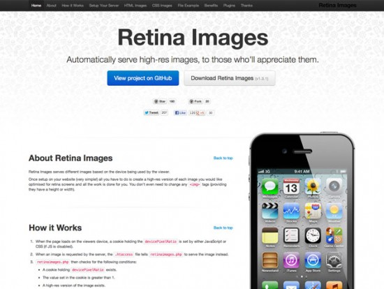 Screenshot von Retina Images