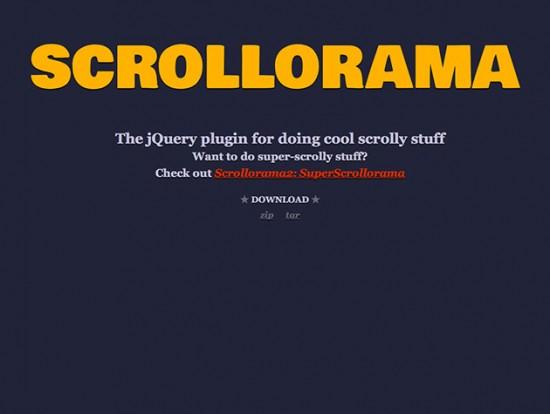 Website von Scrollorama