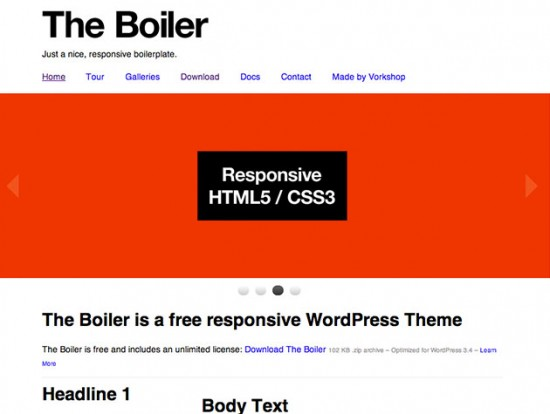 The Boiler WordPress-Theme